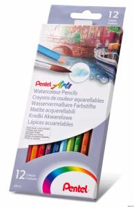 Kredki akwarelowe PENTEL 12 kolorów CB9-12 CB9-12