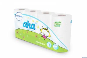 Papier toaletowy AHA ECONOMY (8rolek) biały