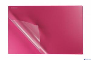Podkład na biurko z folią 38x58 pink BIURFOL KPB-01-03