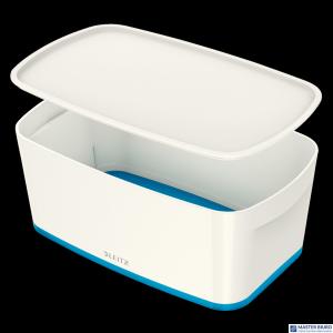 Pojemnik MyBOX mały z pokrywką biało-niebieski LEITZ 52291036