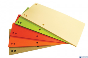 Przekładki , karton, 1/3 A4, 235x105mm, 100szt., mix kolorów, typu OFFICE PRODUCTS 21070035-99