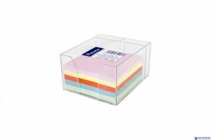 Kostka nieklejona pojemnik DATURA 85x85x50 kolorowa