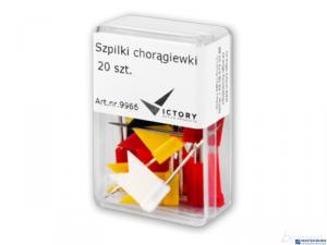 Szpilka choragiewka kolor 20szt VICTORY 9966