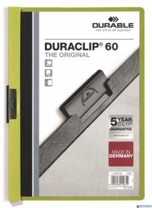 Skoroszyt z klipem A4 DURABLE DURACLIP 1-60 kartek zielony 220905