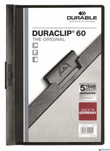 Skoroszyt z klipem A4 DURABLE DURACLIP 1-60 kartek czarny 220901