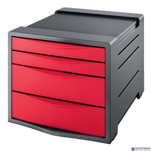 Pojemnik z 4 szufladami EUROPOST VIVIDA czerwony ESSELTE 623960