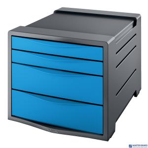 Pojemnik z 4 szufladami EUROPOST VIVIDA niebieski ESSELTE 623961