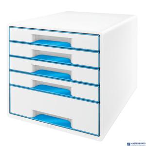 Pojemnik z 5 szufladami LEITZ WOW biało-niebieski 52142036