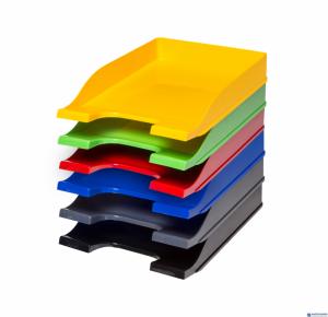 Półka na dokumenty BANTEX COLORS żółta 400050180