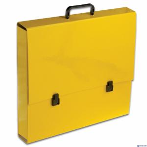 Teczka szkolna z rączką A3 5.5cm żółta pastelowa TT7183 TADEO