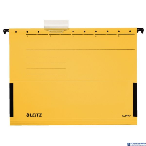 Teczka zawieszana ALPHA żółta z rozszerzanymi bokami LEITZ 19860115