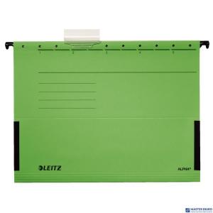 Teczka zawieszana ALPHA zielona z rozszerzanymi bokami LEITZ 19860155