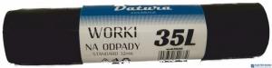 Worki na śmieci  35L 20szt/op DATURA standard 32mic LDPE