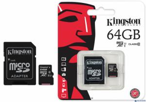 Pamięć MicroSD KINGSTON 64GB MicroSDHC CL10 SDC10G2/64GB