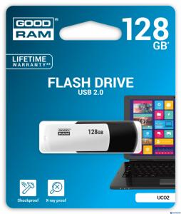 Pamięć USB GOODRAM 128GB UCO2 BLACK&WHITE USB 2.0 UCO2-1280KWR11