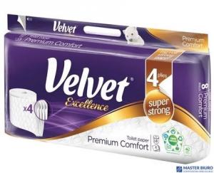 Papier toaletowy VELVET EXCELLENCE SUPER STRONG 4w. (op 8szt) biały