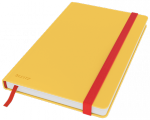 Notatnik Leitz Cosy, A5, kratka, żółty 44540019