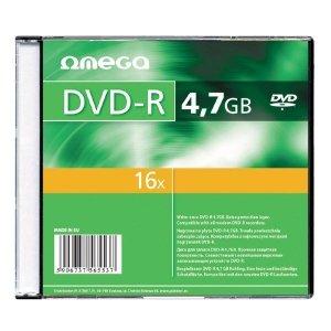 Płyta DVD-R 4,7GB 16X SLIM CASE*1 OMEGA OMD16S+