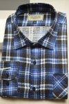 Koszula flanelowa nadwymiar niebieska w granatową kratę
