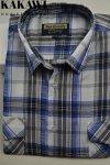 Koszula z kory szaro-niebieska kratka