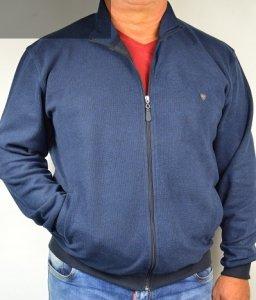 Bluza  - sweter rozsuwany nadwymiar granatowy.