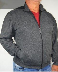Bluza-sweter rozsuwany nadwymiar grafitowy.