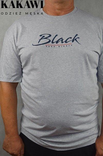 T-shirt duży szary