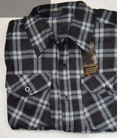 Koszula polarowa szaro-czarna kratka