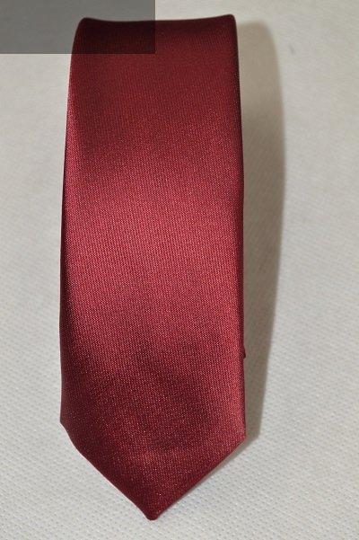 Krawat bordowy gładki