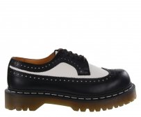 Półbuty Dr. Martens 3989 BROGUE SHOE BEX Black White Smooth