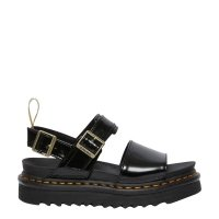 Sandały Dr. Martens VEGAN VOSS STRAP SANDALS Black Oxford 26803001