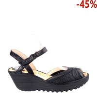 Sandały Fly London YANS 190 Black Black Menorca Mousse P501190000