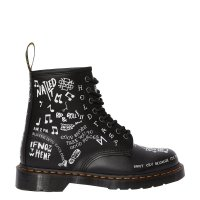 Buty Dr. Martens 1460 Black+White Scribble Backhand 25245009