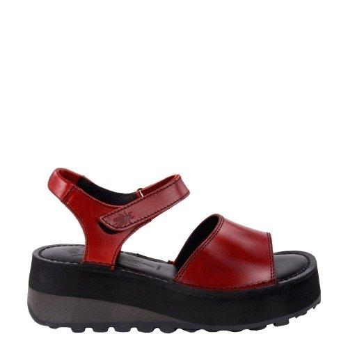 Sandały Fly London HOST483 Red Black Bridle P801483001