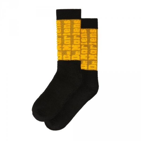 Skarpety Dr. Martens DNA SOCK DMS Yellow Black AC923408