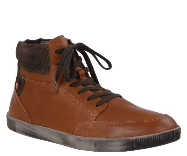 Trampki Softinos TOI 420 Tan Dk. Brown Smooth Combi