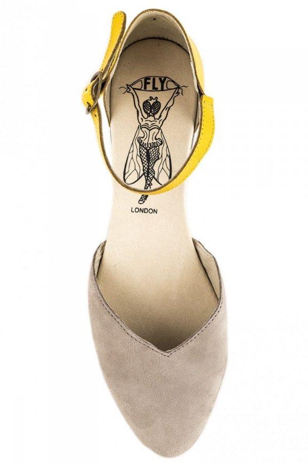 Sandały Fly London MION 692 Concrete Lemon Cupido Mousse
