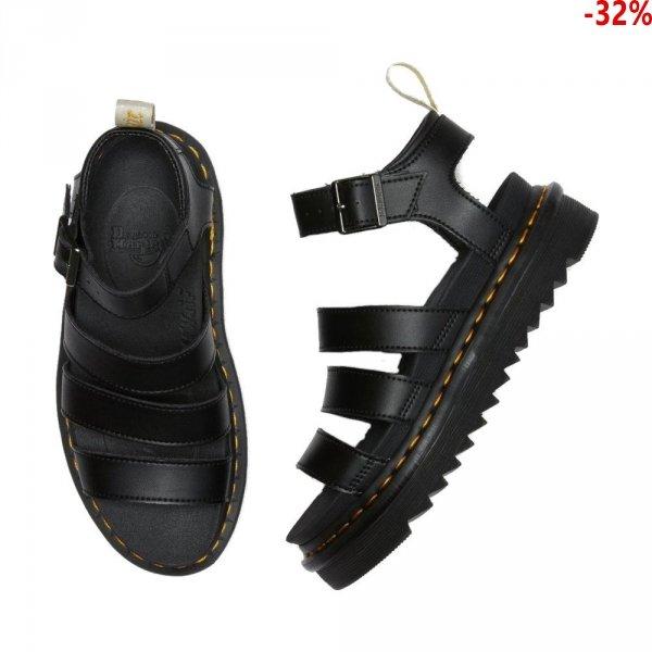 Sandały Dr. Martens VEGAN BLAIRE STRAP SANDALS Black Felix Rub Off 23806001