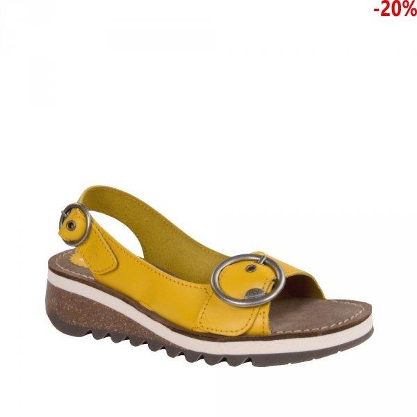 Sandały Fly London TRAM 2 Yellow Brooklyn P144589006