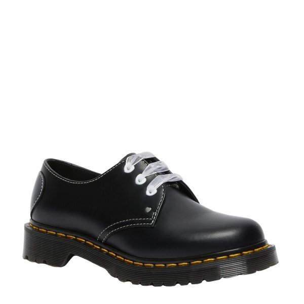 Półbuty Dr. Martens 1461 HEARTS Black Smooth Patent 26682001