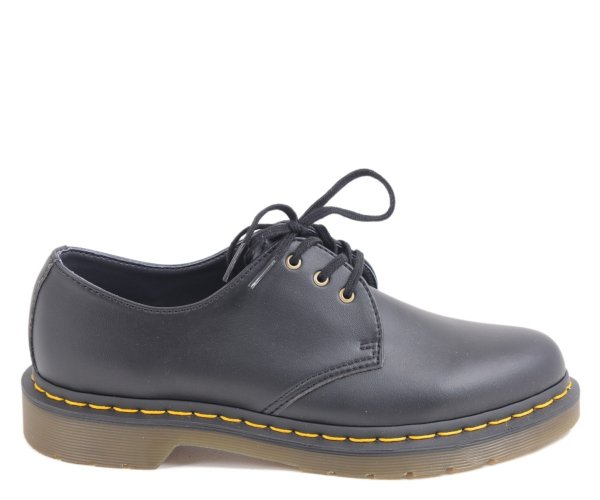 Półbuty Dr. Martens 1461 VEGAN Black Felix Rub Off 14046001