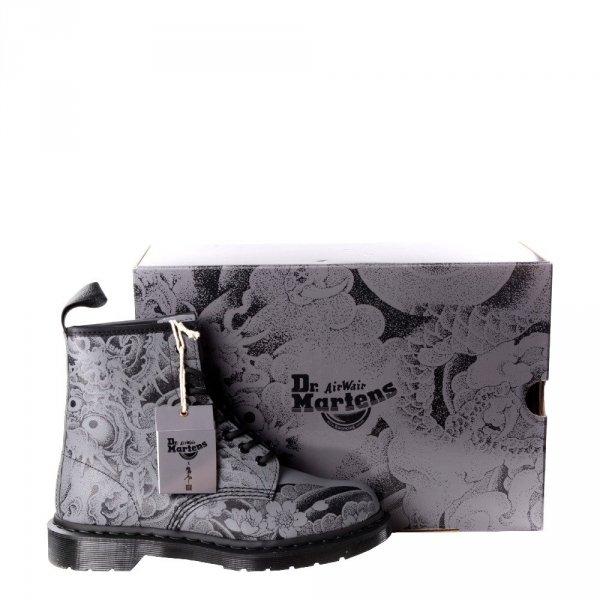 Buty Dr. Martens 1460 OT Tattoo Black+Gunmetal Backhand 24239001