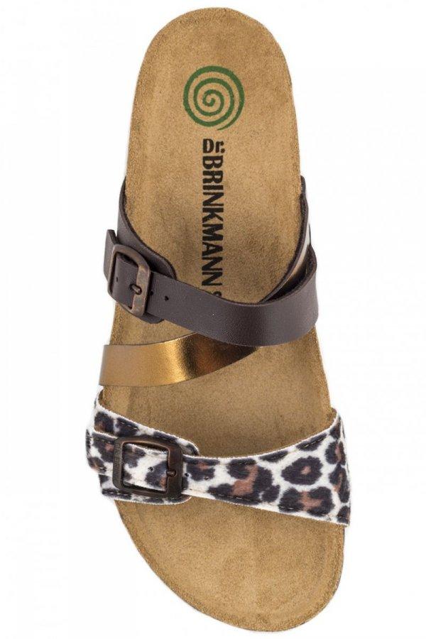 Klapki Dr. Brinkmann 700789 Braun/Leopard