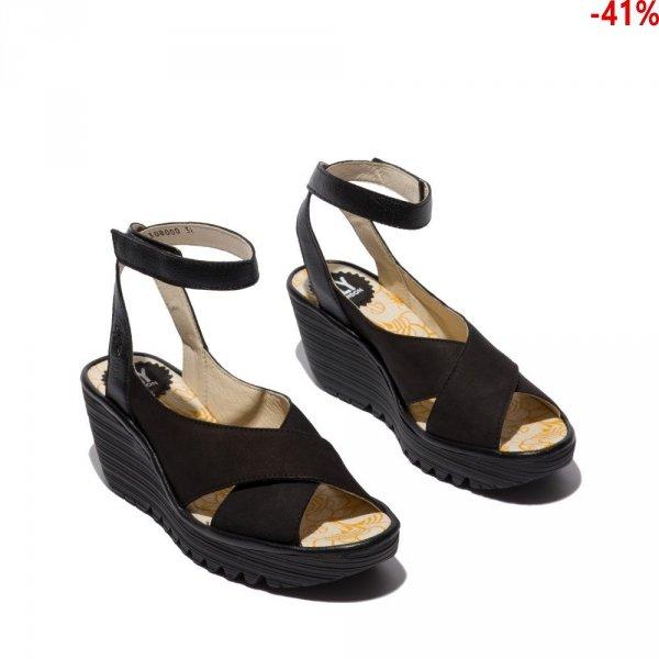 Sandały Fly London YIVI 308 Black Cupido Mousse P501308000