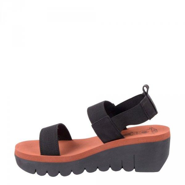Sandały Fly London YACI594 Black Brick Cupido P144594000