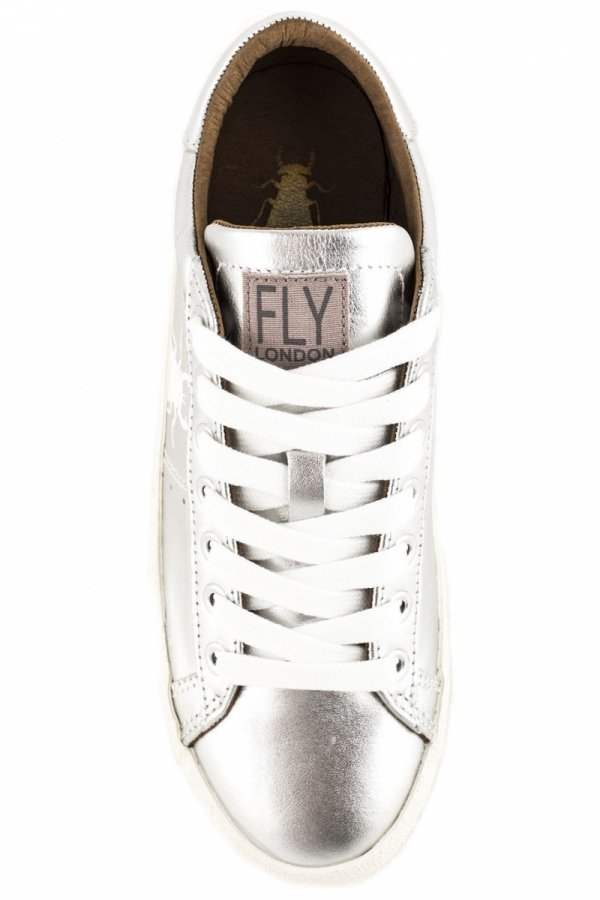 Trampki Fly London BERG 823 Silver Metalic