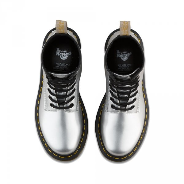 Buty Dr. Martens VEGAN 1460 Silver Chrome Metallic 24865040