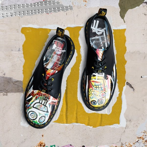 Buty Dr. Martens 1461 BASQUIAT Black Backhand 26320001