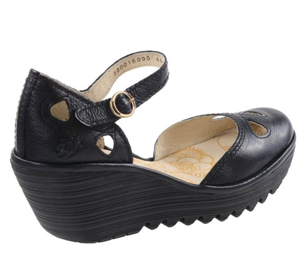 Sandały Fly London YUNA Black Mousse P500016090