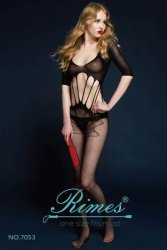 Bielizna-Rimes Bodystocking One Size No,7053 BLACK